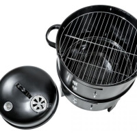 Vertical BBQ Grill Charcoal Smoker with Large Cooking Capacity