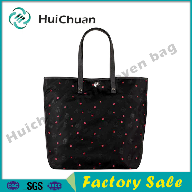 Waterproof Recyclable Polyester Nylon Shopping Tote Carry Bags