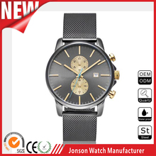 Popular Men business japan movement brand chronograph watch fashion