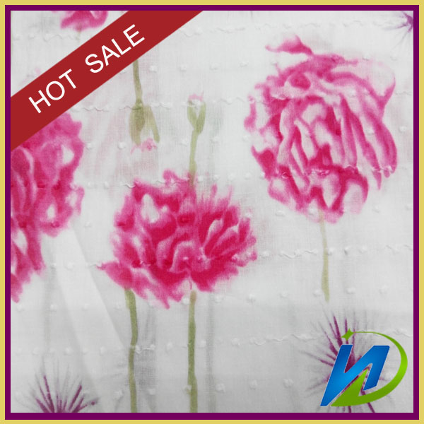 CUSTOM cotton animated/ floral printed fabric satin fabric