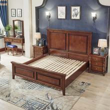 Wholesale Furniture China Wooden Double Bed Designs