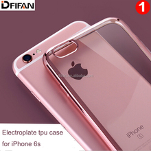 China factoty Electroplating rose gold mobile phone case for iphone 6 slim fit tpu material cover case for iphone 6s