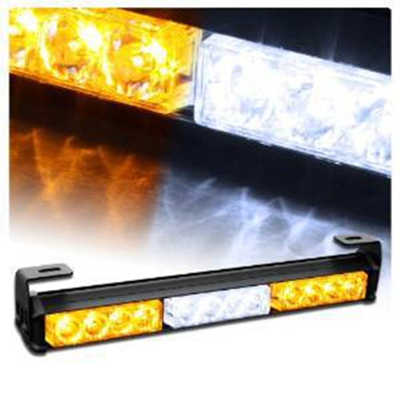 3*4LED car warning light Traffic Advisor Emergency Warning Vehicle Strobe Light Bar Kit