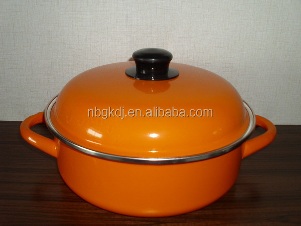 colorful enamel clay cooking chamber seafood pots