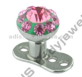 Grade 23 titanium piercing Micro Dermal Surface Anchors