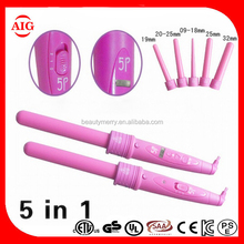 5Part Curler 5P Hair Roller 5 in1 Removable Hair Curling Iron ceramic Curling Wand