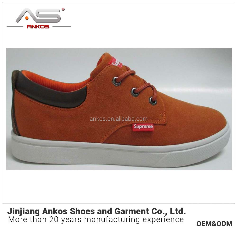 2017 men Skateboard shoe genuine cow suede leather size:40-46