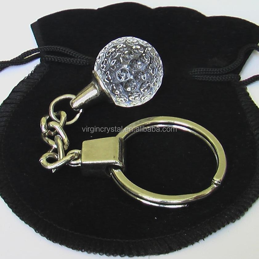 Fashion 3D Laser Engraved Crystal Ball Key Chain