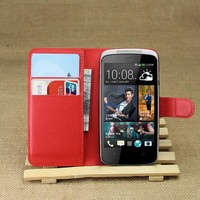 2015 Wholesale Wallet Style Stand Leather Flip Cover For Htc Desire 500