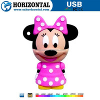 Popular custom minie mouse usb pen drive with factory price