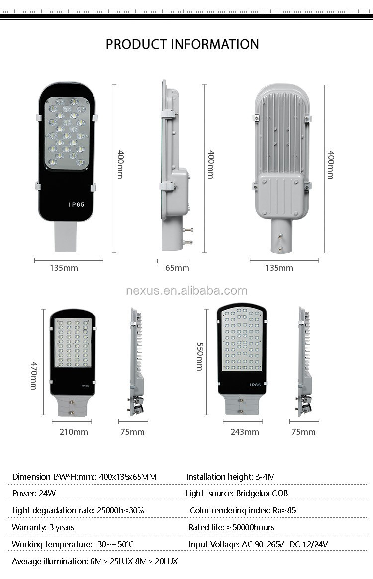 Promotional High Lumen Epistar IP65 20w LED Street Light