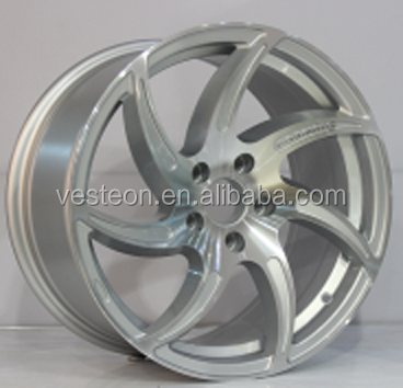 15'' 16'' 17'' inch silver machined face alloy wheels for cars