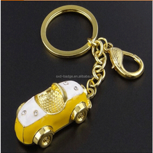 2015 creative cheap custom mini fashion 3d car shaped disposable key tag /car model keychain in china