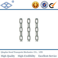 Zinc-plated twisted welded large stainless steel link chain