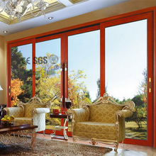 Luxury Aluminum French Ground Tempered Glass Sliding Door