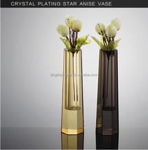 Luxury design gorgeous flower vase crystal vase