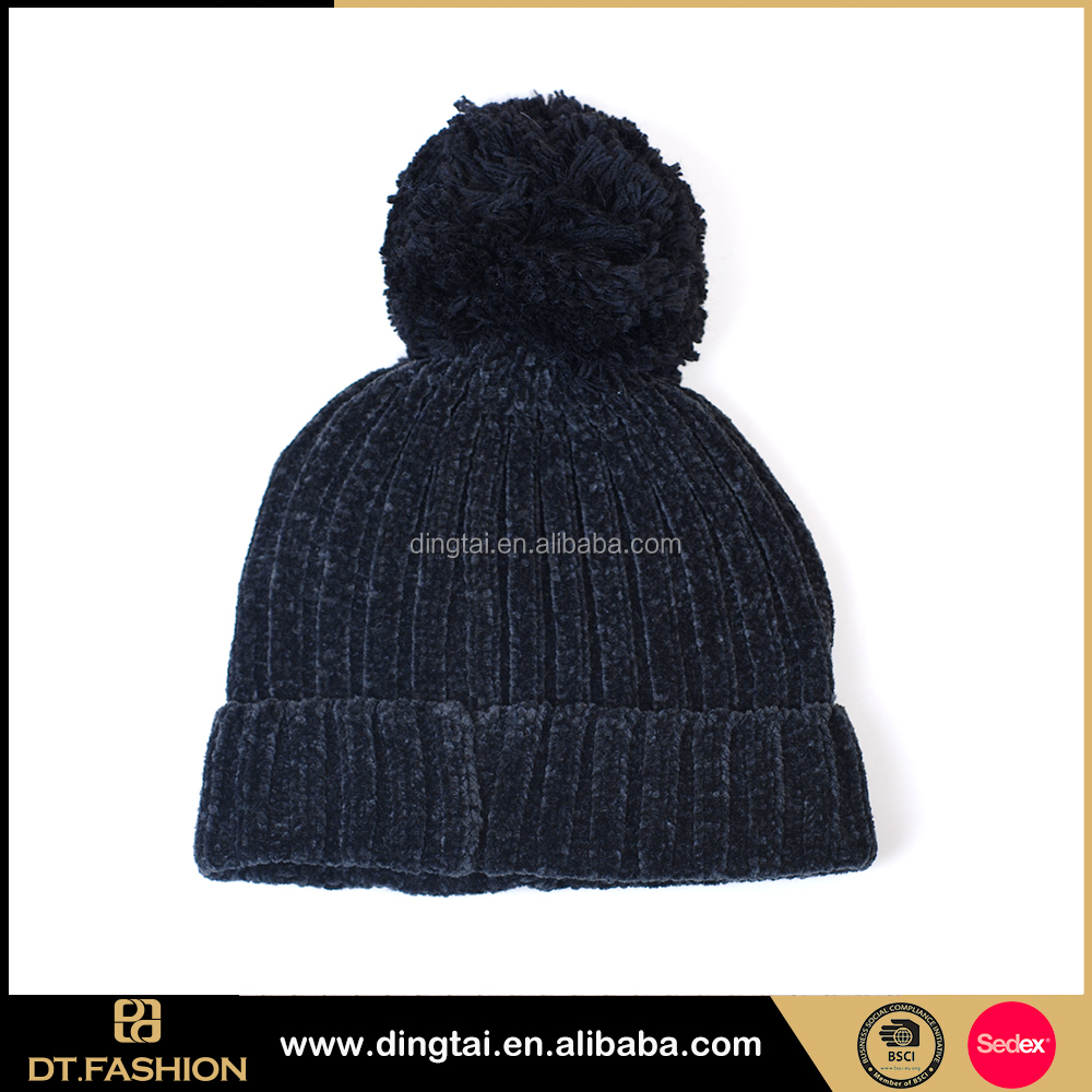 Fashion personalized wholesale wool satin lined beanie hats