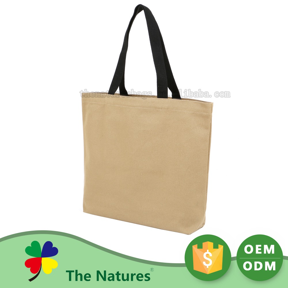 Luxury Quality Make To Order Fashional Folding Yellow Canvas Tote Bag Black