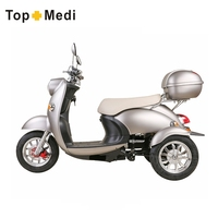 Strong Loading Capacity 3 Wheel Powerful Motor Electric Motorcycle Scooter With Trunk
