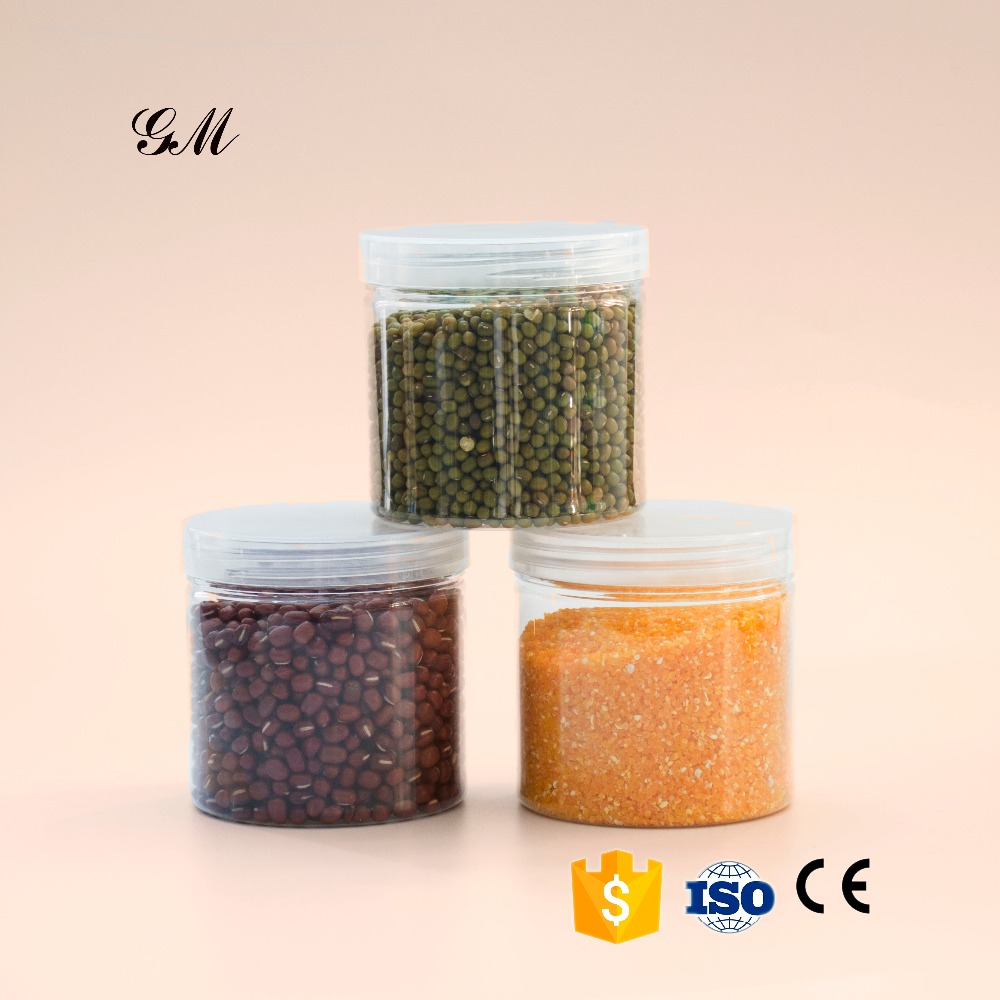 wholesale 0.75 Litre transparent round plastic food jar