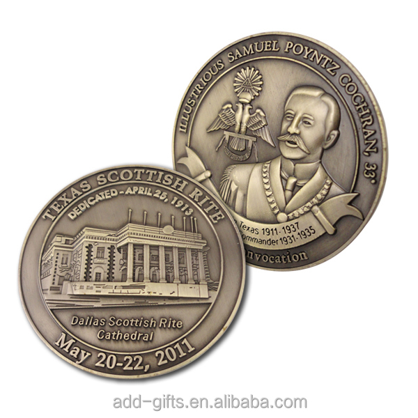 Special design zinc alloy 3D challenge coin with high quality