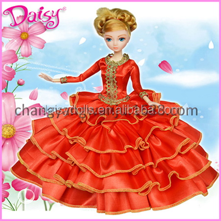 12 inch fashion plastic dress up game doll