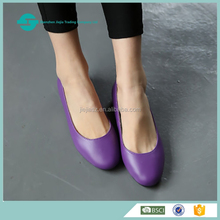 China import high quality fashion women flat shoes western upper leather matching ladies pointed shoes