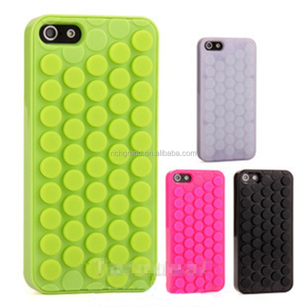 New 3D bubble wrap pop design mobile phone case cover for iphone