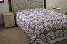 purple reactive whole printed all size quilts/bedspread