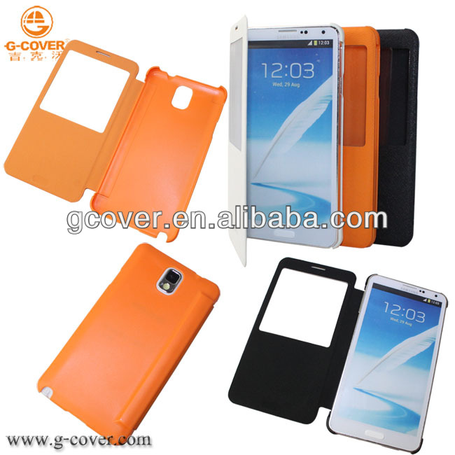 Hot selling for samsung galaxy note 3 phone case wallet, for Galaxy Note3 view cover