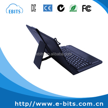 Magnetic detachable leather cover silicone waterproof wireless keyboard with touchpad