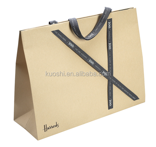 cheap shopping paper bag for clothing with led