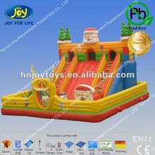 Lovely Santa Claus Inflatable Slide with Two Ways