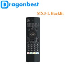 2017 Brand new MX3-L backlit air mouse Somatosensory fly bluetooth 4.0 and dual wifi remote control