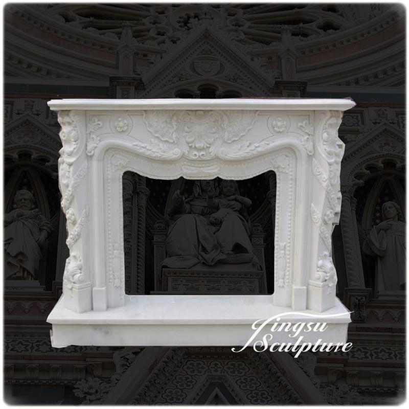 High Quality Popular Design Marble Fireplace Mantle