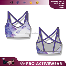 Wholesale polyester spandex Women Seamless Workout Gym Fitness Yoga Sports bra