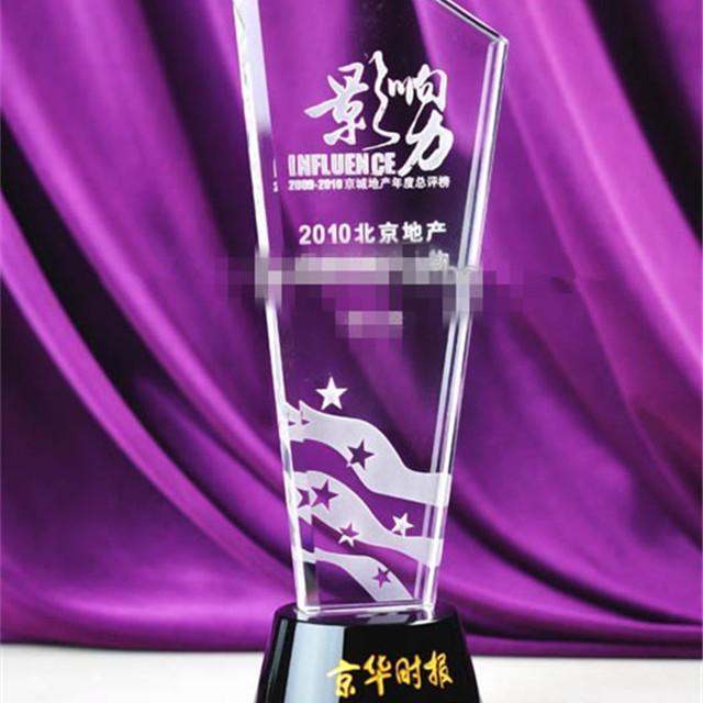 The New Establishment Trophy Award Crystal Plaques