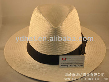 Men's paper straw hat;panama straw hat