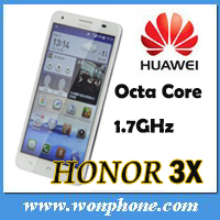 HUAWEI Honor 3X Mobile Phone MTK6592 Octa-Core 5.5 Inch HD OGS Screen 5.0MP Front Camera