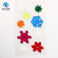 Factory wholesale christmas snowflake jelly gel window sticker