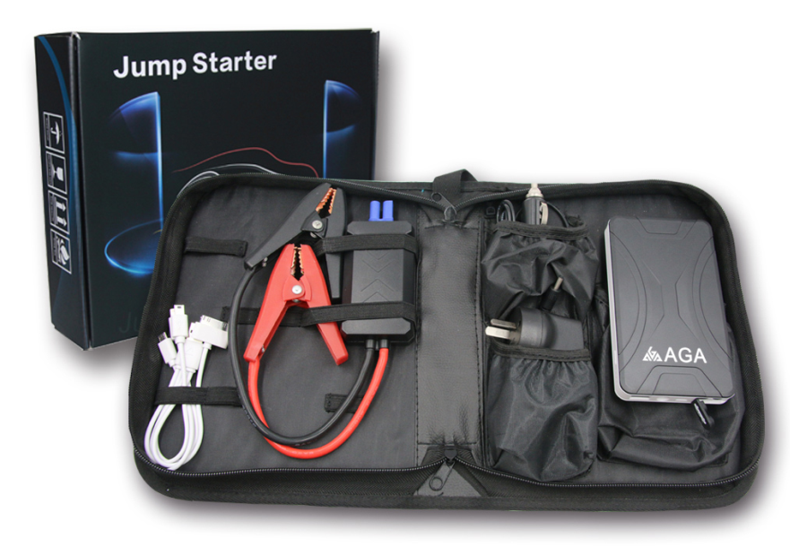 Outdoor emergency power jump starter for trucks, Australia Hot SellingJump Starter Power Bank with LED Torch + USB Output
