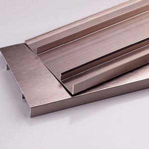 Cheap Fireproof Aluminum Metal Rose Gold Skirting Board Molding Tile for Kitchen Cabinet