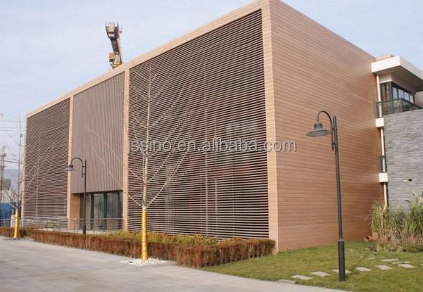 Bois plasitc composite panneau de mur ext rieur pour for Panneau composite exterieur