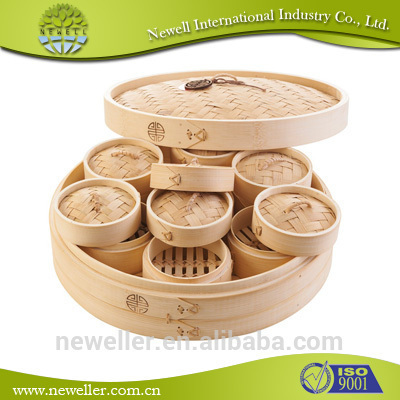 2014 Natural commercial multi-purpose food steamer bamboo steamers rice cookers set to australia