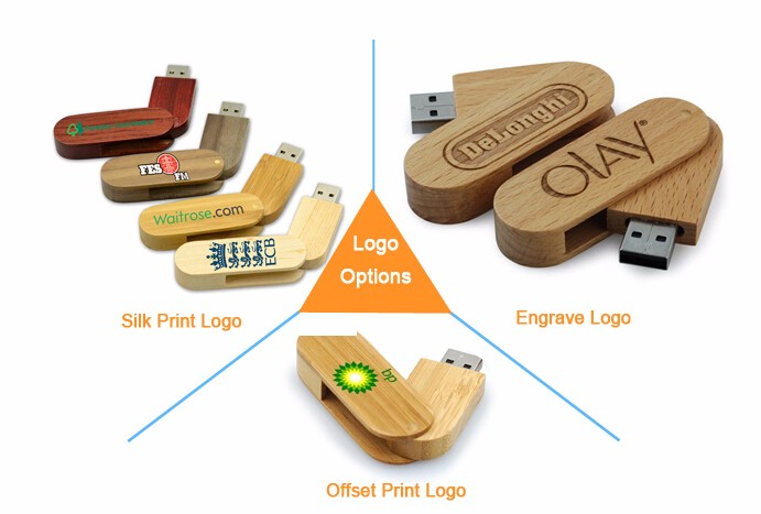 Ecological wooden pendrive 2gb usb flash drive,2gb usb stick with logo