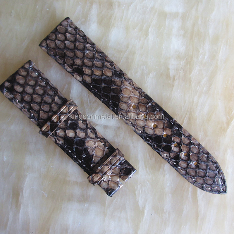 Popular Exotic python snake skin leather watch band 20mm