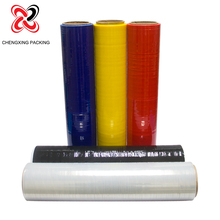 17mircon black and colorful plastic casting stretch wrap film