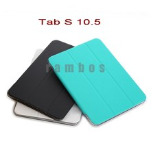 Ultra Slim Smart Cover Case Stand with Plastic Shell for Samsung galaxy Tab S 10.5 T800 Android Tablet PC Auto Wake Sleep