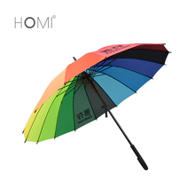 Homi New products straight rainbow umbrella/color changing umbrella