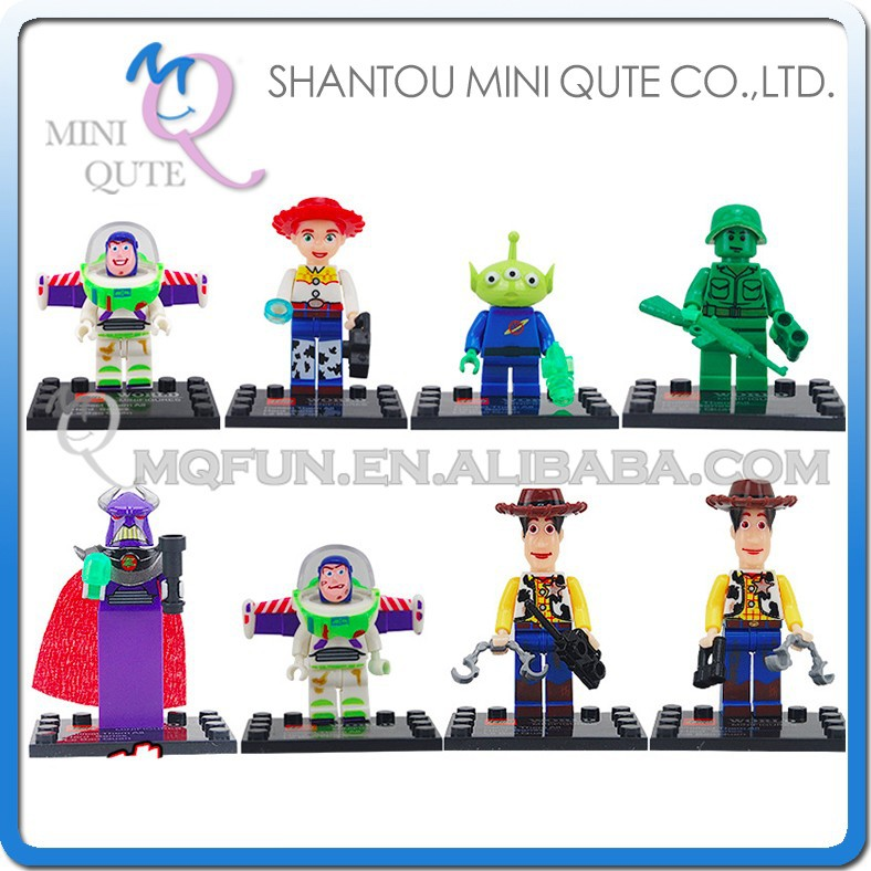 Mini Qute LEBQ 8pcs/set American cartoon model Toy Story woody buzz boys building block action figures educational toy
